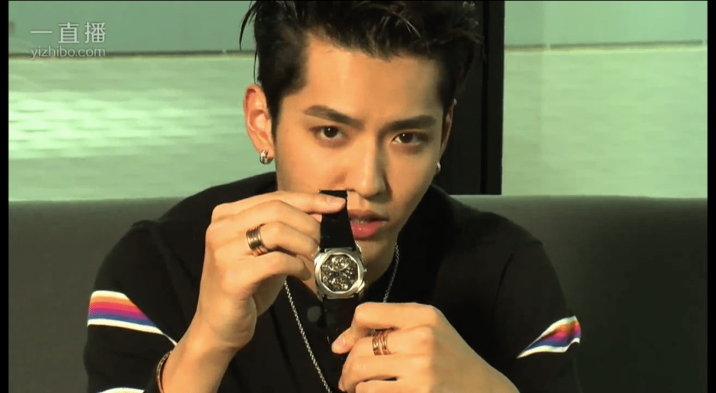 Chinese actor and singer Kris Wu live streams on Yizhibo to promote watch